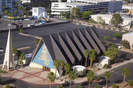 revere: LAS VEGAS, NEVADA - MAY 9, 2014:  Guardian Angel Cathedral in Las Vegas. The architect for the modernist basilica-style church was Los Angeles architect Paul Revere Williams Editorial