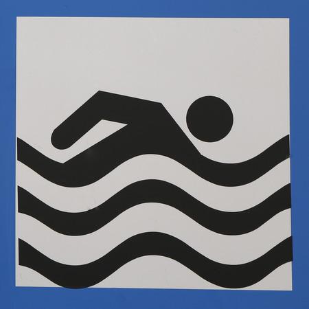 flotation: Warning sign at a beach