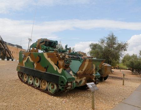 improved: LATRUN, ISRAEL - NOVEMBER 27, 2014: American made M901 Improved TOW Vehicle on display at Yad La-Shiryon Armored Corps Museum at Latrun Editorial