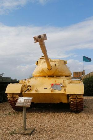 firepower: LATRUN, ISRAEL - NOVEMBER 27, 2014: M47 E1E2 Patton Main Battle Tank on display at Yad La-Shiryon Armored Corps Museum at Latrun