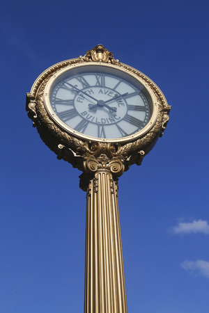 broadway tower: NEW YORK - JANUARY 31, 2015: Fifth Avenue Building Clock, completed in 1909 in the historical Flatiron district in Manhattan
