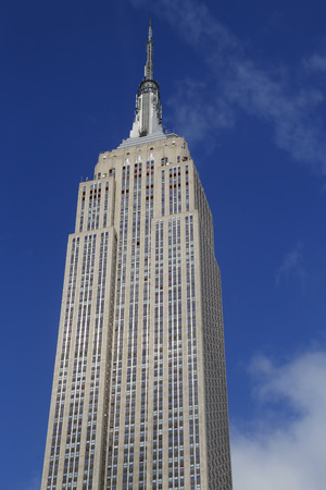 empire state building: NEW YORK -  FEBRUARY 19, 2015: Empire State Building close up. The Empire State Building is a 102-story landmark and was world\