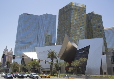 resid: LAS VEGAS, NEVADA- MAY 10, 2014: CityCenter, urban complex on 76 acres (31 ha) located on the Las Vegas Strip with different hotels & casinos and resid