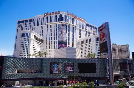 hollywood: LAS VEGAS, NEVADA - MAY 10, 2014: Planet Hollywood Resort & Casino. Planet Hollywood Resort & Casino, previously known as Aladdin Resort & Casino, is a casino resort on the Las Vegas Strip Editorial