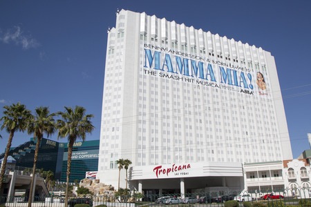 tropicana: LAS VEGAS, NEVADA - MAY 10, 2014: Tropicana Las Vegas Hotel and Casino in Las Vegas. Tropicana Las Vegas is located on the Las Vegas Strip.  It offers 1,467 rooms and has a 50,000 sq ft casino