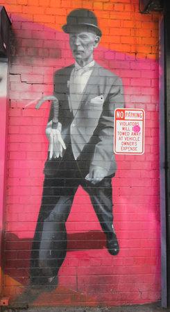 chelsea: NEW YORK - MARCH 12, 2015: Mural art by Brazilian Mural Artist Eduardo Kobra in Chelsea neighborhood in Manhattan