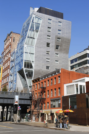 cluster house: NEW YORK - MARCH 12, 2015: HL23 modern building near High Line at West 23rd Street