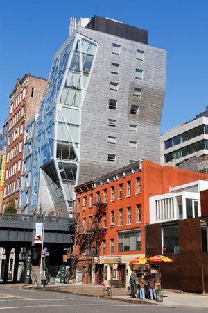 NEW YORK - MARCH 12, 2015: HL23 modern building near High Line at West 23rd Street