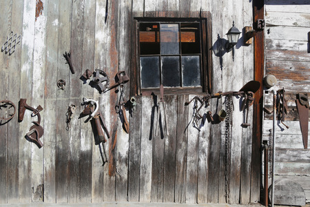 Old wooden barn photo