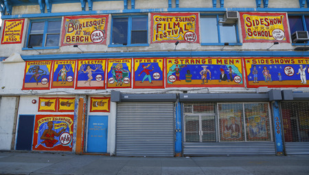 coney: BROOKLYN, NEW YORK - MARCH 19, 2015: Famous Coney Island Museum in Brooklyn. It is home for Coney Islands Arts Center since 1980