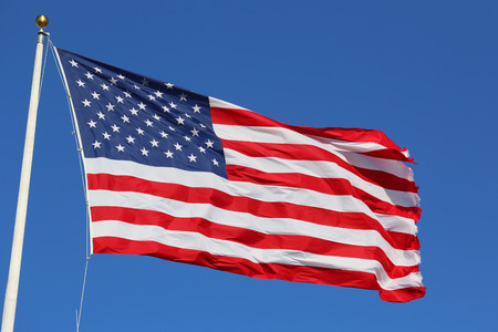 red wave: American flag