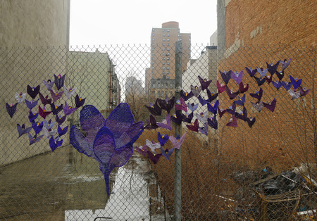 NEW YORK - MARCH 26, 2015: Street art at East Harlem in New York Editorial