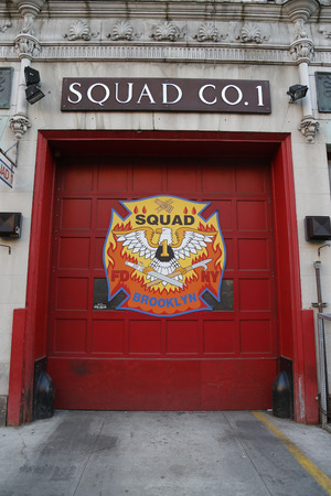 special operations: BROOKLYN, NEW YORK - MARCH 22, 2015 : New York City Fire Department Squad Company 1 in Brooklyn, NY. It is one of seven Squads in the FDNY Special Operations Command Editorial