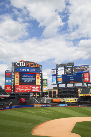 flushing: FLUSHING, NY - MAY 18, 2014: Citi Field, home of major league baseball team the New York Mets. This stadium was opened in 2009 in Flushing, NY. Editorial