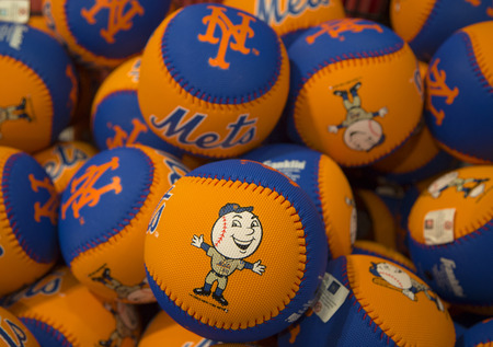 FLUSHING, NY - MAY 18, 2014: Mets souvenirs at the Citi Field, home of major league baseball team the New York Mets