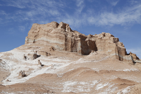 moon  desert: Rock formations of the Moon Valley Atacama Desert Chile South America Stock Photo