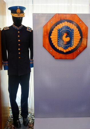 federal police: USHUAIA ARGENTINA  APRIL 2 2015: Argentinian Federal Police Uniform presented in Ushuaia Argentina during Malvinas Day Celebration