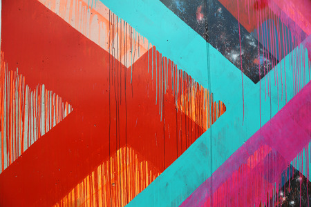coney: NEW YORK - JUNE 30, 2015: Mural art at the new street art attraction Coney Art Walls at Coney Island section in Brooklyn