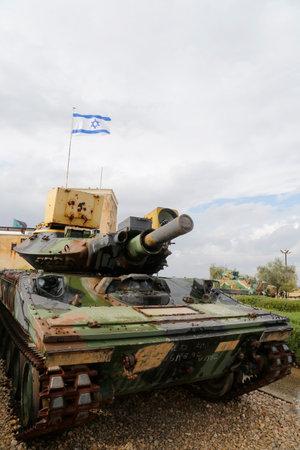 firepower: LATRUN, ISRAEL - NOVEMBER 27: American made M551 Sheridan light tank on display at Yad La-Shiryon Armored Corps Museum at Latrun