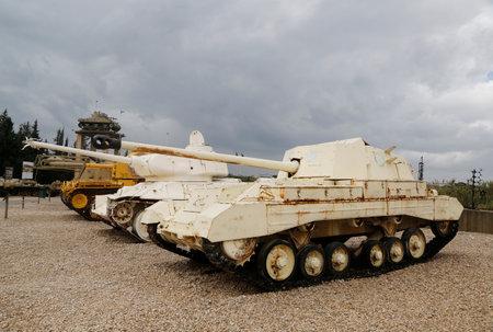 destroyer: LATRUN, ISRAEL - NOVEMBER 27, 2014 : British Archer Tank Destroyer on display at Yad La-Shiryon Armored Corps Museum at Latrun