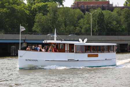 dinner cruise: NEW YORK - JULY 5, 2015: Classic Harbor Line cruised the East River in New York Editorial