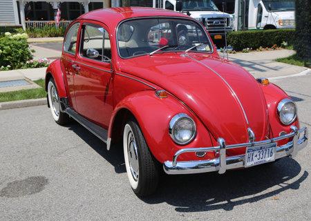 custom car: BROOKLYN, NEW YORK - JULY 19, 2015 : 1957 Volkswagen Beetle on display at the Mill Basin car show in Brooklyn, New York .