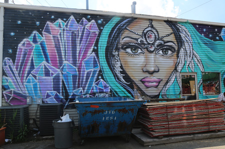 NEW YORK - AUGUST 1, 2015: Mural art at East Williamsburg in Brooklyn