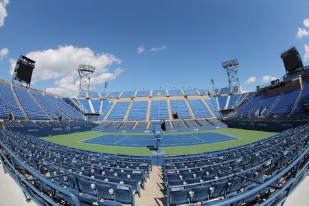 billie: NEW YORK - SEPTEMBER 7, 2014: Luis Armstrong Stadium at the Billie Jean King National Tennis Center during US Open 2014 tournament in New York