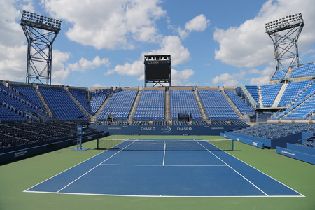 center court: NEW YORK - SEPTEMBER 7, 2014: Luis Armstrong Stadium at the Billie Jean King National Tennis Center during US Open 2014 tournament in New York