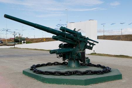 falklands war: RIO GRANDE, ARGENTINA - APRIL 3, 2015: Monument to fallen soldiers of Falklands  or Malvinas war in Rio Grande, Argentina