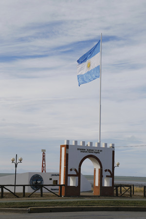 falklands war: RIO GRANDE, ARGENTINA - APRIL 3, 2015: Monument to fallen soldiers of Falklands  or Malvinas war in Rio Grande, Argentina