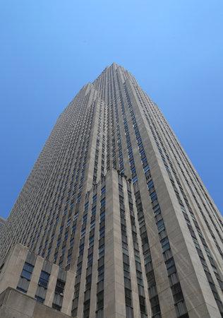 general knowledge: NEW YORK CITY - JULY 17, 2015: GE Building at Rockefeller plaza in Midtown Manhattan
