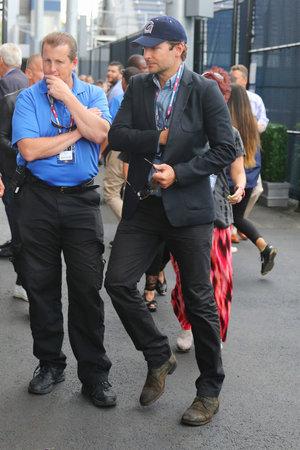 finalist: NEW YORK - SEPTEMBER 13, 2015: Actor Bradley Cooper arrived for men s final match at US OPEN 2015 between Roger Federer and Novak Djokovic at Billie Jean King National Tennis Center in NY