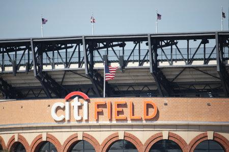 flushing: FLUSHING, NEW YORK - SEPTEMBER 6, 2015: Citi Field, home of major league baseball team the New York Mets in Flushing, NY Editorial