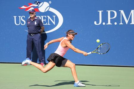 alexa: NEW YORK - SEPTEMBER 7, 2015: Junior tennis player Alexa Graham of United States during match at the Billie Jean King National Tennis Center  in New York