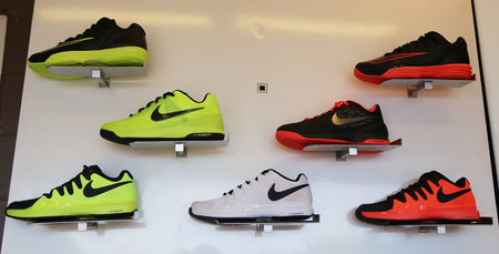 billie: NEW YORK - SEPTEMBER 6, 2015:  Nike presented new tennis shoes collection during US Open 2015 at Billie Jean King National Tennis Center in New York Editorial