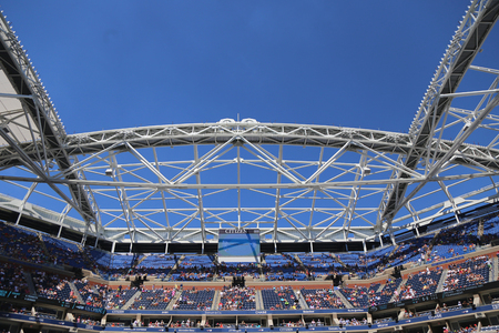 new and improved: NEW YORK - SEPTEMBER 6, 2015: Newly Improved Arthur Ashe Stadium at the Billie Jean King National Tennis Center during US Open 2015 tournament in Flushing, NY