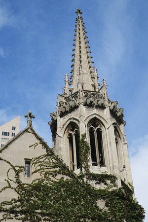 michigan avenue: CHICAGO, ILLINOIS - OCTOBER 24, 2015: Fourth Presbyterian Church of Chicago at Michigan Avenue in downtown Chicago
