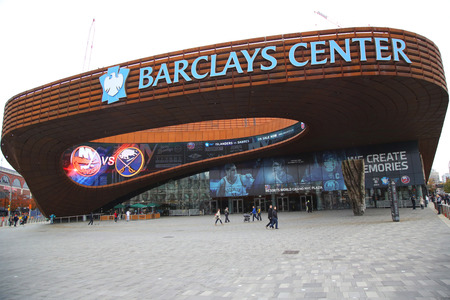 islanders: BROOKLYN, NEW YORK - NOVEMBER 1, 2015: Sport arena Barclays center in Brooklyn, New York. Barclays Center with 18,000 seats serves as the home of the NBA s Brooklyn Nets and NHL s New York Islanders