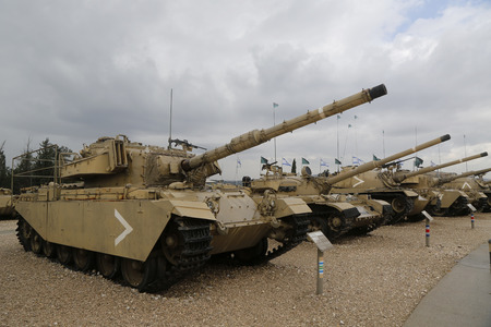 patton: LATRUN, ISRAEL - NOVEMBER 27, 2014: Centurion primary British main battle tank IDF modification on display at Yad La-Shiryon Armored Corps Museum at Latrun