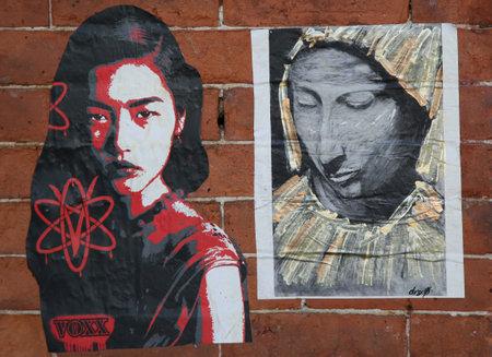 lower east side: NEW YORK - NOVEMBER 3, 2015: Street art at Lower East Side in Manhattan