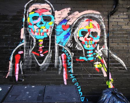 lower east side: NEW YORK - NOVEMBER 3, 2015: Mural art at Lower East Side in Manhattan