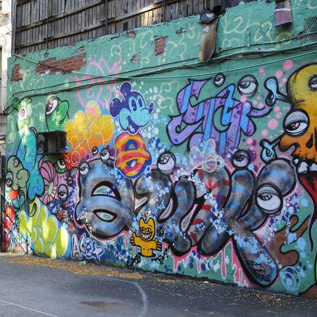 homer: NEW YORK - NOVEMBER 3, 2015: Mural art at  Lower East Side in Manhattan