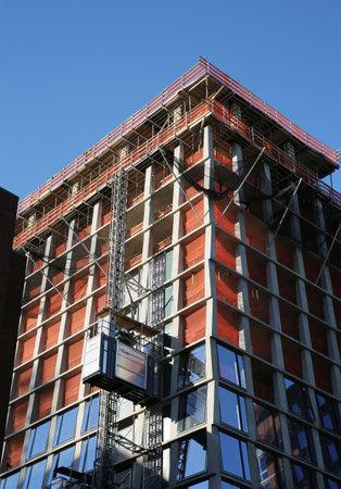 lower east side: NEW YORK - NOVEMBER 5, 2015: Modern condominium construction site in Lower East Side in Manhattan