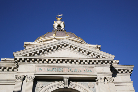 headquarter: BROOKLYN, NEW YORK - NOVEMBER 8, 2015: Williamsburg Savings Bank 19th Century Headquarter in Brooklyn. The building is listed on the National Register of Historic Places Editorial