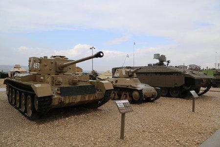 mk: LATRUN, ISRAEL - NOVEMBER 27, 2014: British made Cromwell MK III tank on display at Yad La-Shiryon Armored Corps Museum at Latrun