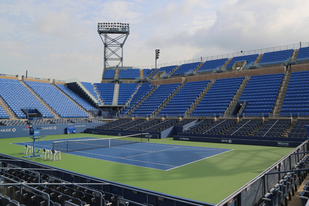louis armstrong: NEW YORK - AUGUST 24, 2015: Louis Armstrong Stadium at the Billie Jean King National Tennis Center ready for US Open tournament in Flushing, NY Editorial