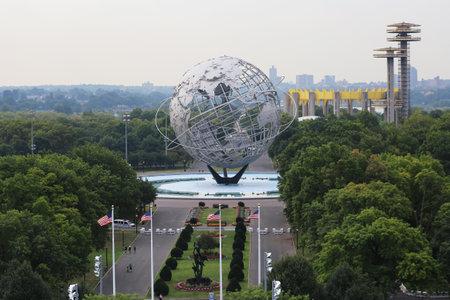ニューヨーク 8 月 31、フラッシング ・ メドウズ ・ パークで 2015: 1964年ニューヨーク世界 s 公正ユニスフィア。それは世界の最大のグローバル構造 報道画像
