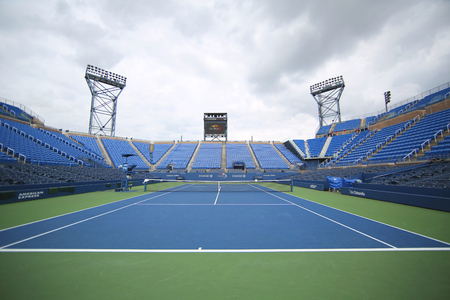 louis armstrong: NEW YORK - SEPTEMBER 12, 2015: Louis Armstrong Stadium at the Billie Jean King National Tennis Center during US Open tournament in Flushing, NY Editorial