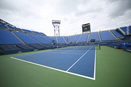 billie: NEW YORK - SEPTEMBER 12, 2015: Louis Armstrong Stadium at the Billie Jean King National Tennis Center during US Open tournament in Flushing, NY Editorial